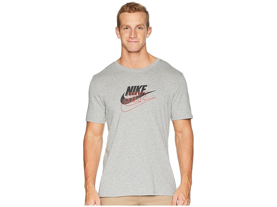 Nike NSW Tee Archive 3 (Dark Grey Heather/Black) Men