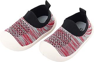 Bebé Infante Niños Niñas Zapatos de Primeros Pasos Volar Tejida Zapatillas Calzado Deportivo Casual para Pies Anchos Antid...
