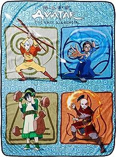 Avatar: The Last Airbender Throw Blanket Aang Zuko Katara Toph Elements Plush Throw Blanket | Cozy Sherpa Blanket | Super ...