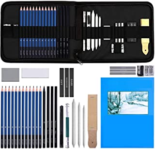 Angel Bear 35 Pieces Professional Drawing Pencils and Sketch Kit for Artist
