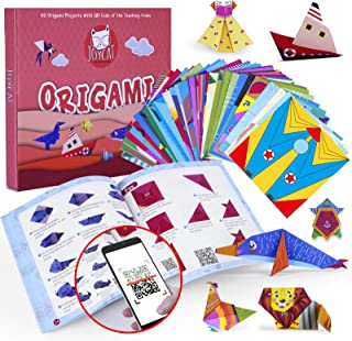 JoyCat Colorful Kids Origami Kit 95 Double-Sided Vivid Origami Papers,45 Projects, 54 Pages Guiding Origami Book,for Kids ...