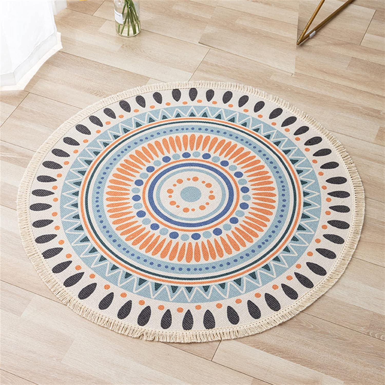 Cotton Rug Retro Bohemian Carpets Carpet Washable cheap w Rare Round