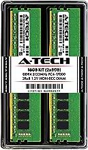 A-Tech 16GB DDR4 2133MHz Desktop Memory Kit (2 x 8GB) PC4-17000 Non-ECC Unbuffered DIMM 288-Pin 2Rx8 1.2V Dual Rank Computer RAM Upgrade Sticks (AT8G2D4D2133ND8N12V)