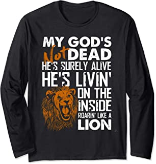 My God's Not Dead Lion Christian Christ Cross Faith T-Shirt