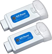 GiFi Power Replacement 11.1V 2000mAh 3S Lipo Battery for Yuneec Breeze 4k Drone (2 Pack)