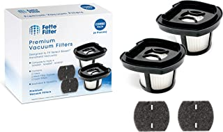 Fette Filter - Vacuum Filter Set Compatible with Bissell Pet Hair Eraser Hand Vacuum. Compare to Part # 1614212, 1614203 & 1614204, 161-4212, 161-4203 & 161-4204 (6 Pieces)
