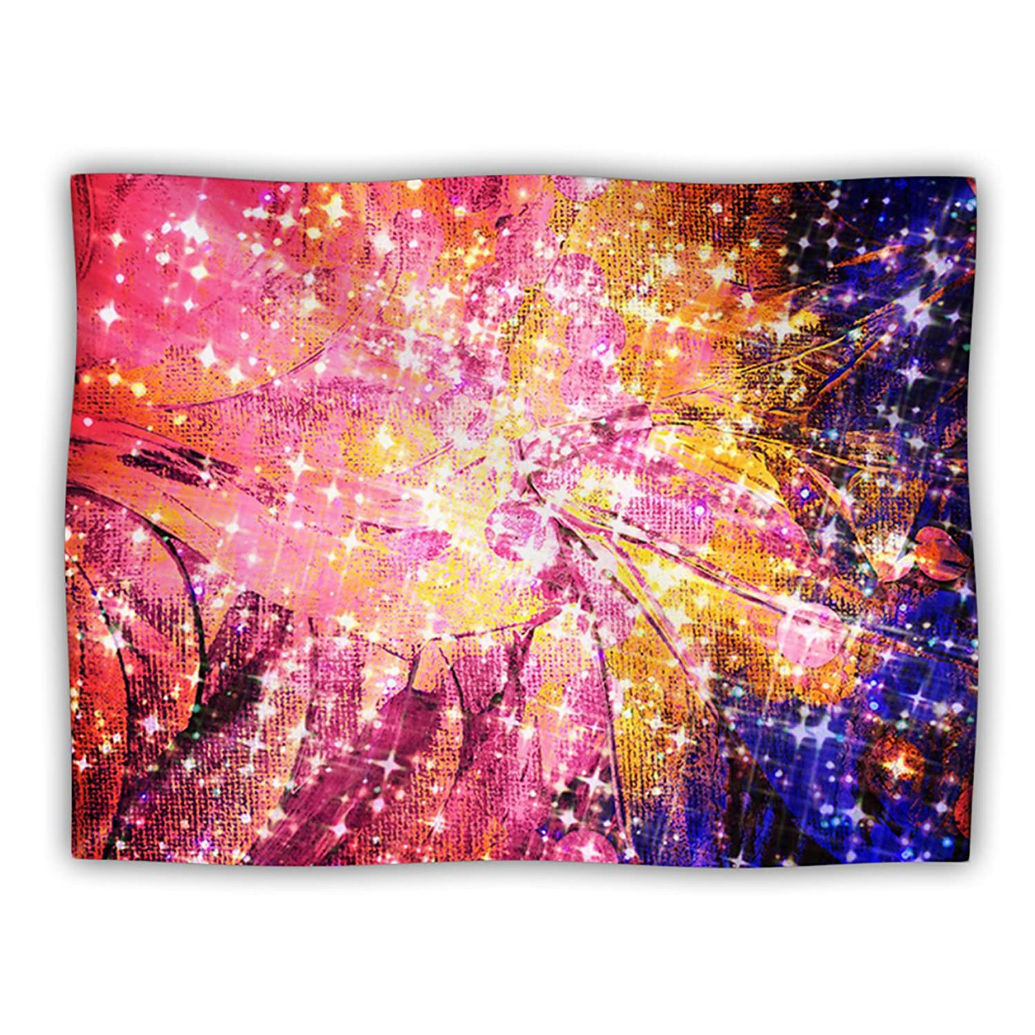 KESS InHouse EBI Emporium 'Out There' Pink Yellow Dog Blanket, 40 by 30-Inch