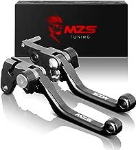MZS Pivot Levers Brake Clutch Foldable CNC for Suzuki RM 125 250 RM125 RM250 1996-2003 (Black)