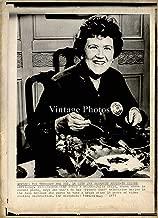 1973 Wire Photo Author Julia Child French Chef Tv Series Radko American 8X10