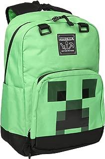 JINX Minecraft Creeper Creepin' Up Kids School Backpack, Green, 17