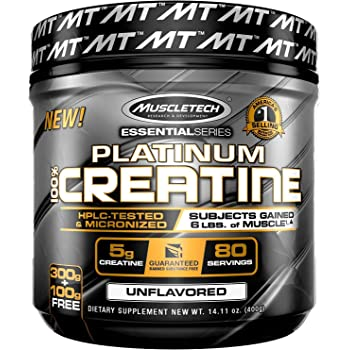 Muscletech Essential Series Platinum Creatine (5g Creatine, 80 Servings) – 400g