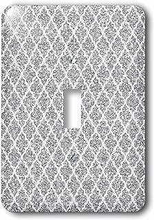 3dRose lsp_210939_1 Silver Glitter Effect Moroccan Quatrefoil Pattern Single Toggle Switch