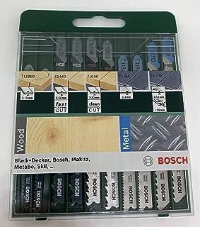 comprar comparacion Bosch 2 609 256 746 - Juego de hojas de sierra de calar de 10 piezas vástago en T