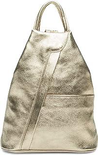 Caspar TL782 2 in 1 Leder Rucksack Handtasche