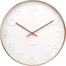 Karlsson Mr. White Numbers Wall Clock with Copper Case, 51 x 7cm