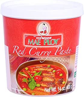 Mae Ploy Red Curry Paste, Authentic Thai Red Curry Paste For Thai Curries And Other Dishes, Aromatic Blend Of Herbs, Spice...