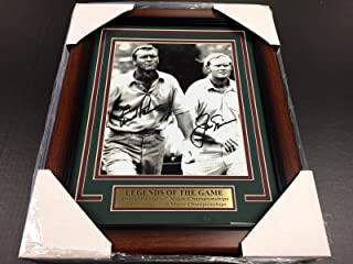 Reprint Arnold Palmer Jack Nicklaus Autographed Reprint Golf 8x10 Photo Framed - Autographed Golf Photos