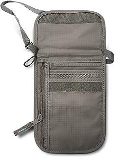 RFID Blocking Neck Stash Passport, Unisex, Grey