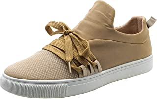 Cambridge Select Women's Round Toe Breathable Lightweight Lace-up Casual Sport Fashion Sneaker