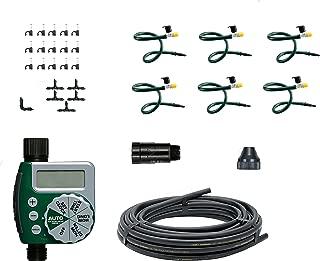 Orbit 56318 Hanging Basket Flex-Mist Watering Kit with Hose-End Timer