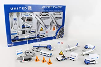 Daron United Airlines 24 Piece Playset