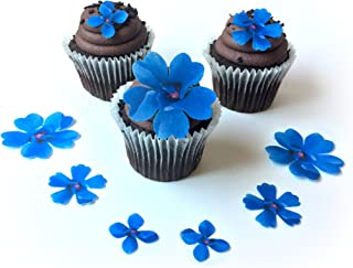 navy blue sugar flowers