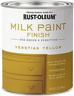 Rust-Oleum 334195 Finish Milk Paint, Quart, Venetian Yellow