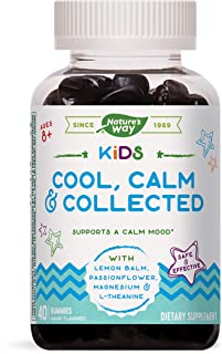Nature's Way Kids Cool, Calm & Collected, Ages 8+, Grape Flavored, 40 Vegetarian Gummies