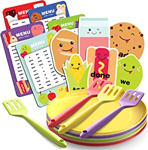 Sight Word Diner Reading Fluency Game - Sight Reading Games for Kids Ages 4-8 - Fun Educational Kid Toy for Boys and Girls 4 Year Old and Up - Preschool Learning, Kindergarten Homeschool Supplies