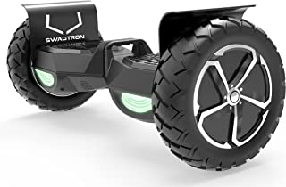 Swagtron Swagboard Outlaw T6 Off-Road Hoverboard - First in The World to Handle Over 380 LBS, Up to 12 MPH, UL2272 Certified, 10