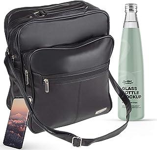Herren Arbeitstasche ideal als Flugbegleiter, Handwerker, Busfahrer Tasche I Tasche für Arbeit und Laptop I Arbeitstaschen, Aktentasche