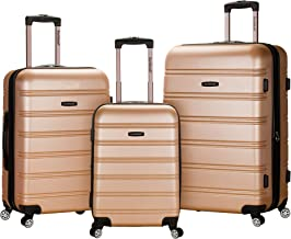 Rockland Luggage Melbourne 3 Pc Abs Set, Champagne