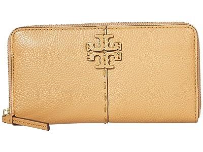 Tory Burch McGraw Zip Continental Wallet (Tiramisu) Handbags