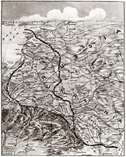 World War I Eastern Front Nmap 1919 Showing The Eastern Front Of World War I In Russia And Austria-Hungary Poster Print by...