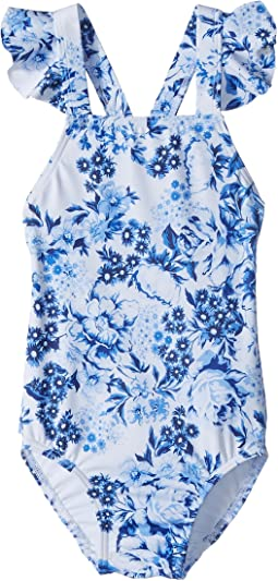 Seafolly Kids Forget Me Not Ruffle Tank One-Piece (Infant/Toddler/Little Kids)