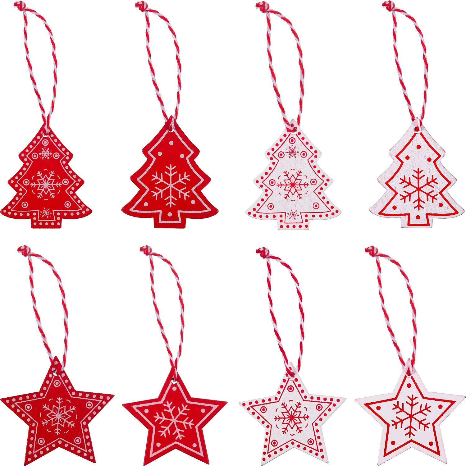 JOVITEC 32 Pieces ! Super beauty product restock quality top! Christmas Tree Wooden Orn Hangings Cheap bargain Decorations