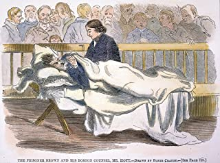 John Brown (1800-1859) Namerican Abolitionist Wounded And On A Cot In Court During His Trial For Murder And Treason In Cha...