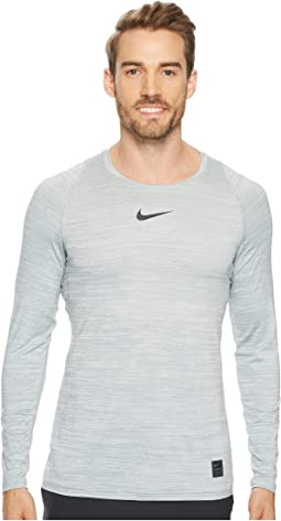 1a647264 White/White/Black. 21. Nike. Pro Heathered Long Sleeve Training Top.  $26.25MSRP: $35.00
