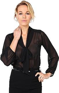 Blusa Mujer Cuello Lazo Elegante