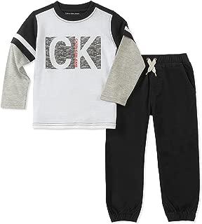 Calvin Klein Baby Boys' 2 Pieces Jog Set-Long Sleeve Top