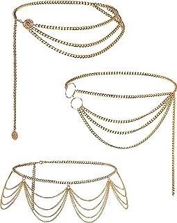 or Jovono cha/îne de corps perl/é bikini harnais cha/îne de bijoux de corps cha/îne de taille pour les femmes et les filles