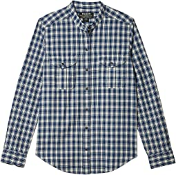 Indigo/Cream Plaid