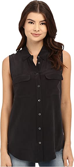 EQUIPMENT - Sleeveless Slim Signature Top