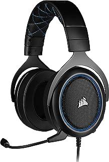 Corsair HS50 Pro Stereo Auriculares para Juegos (Ajustables Espuma viscoelástica Almohadillas, Ancelación del Ruido extraí...