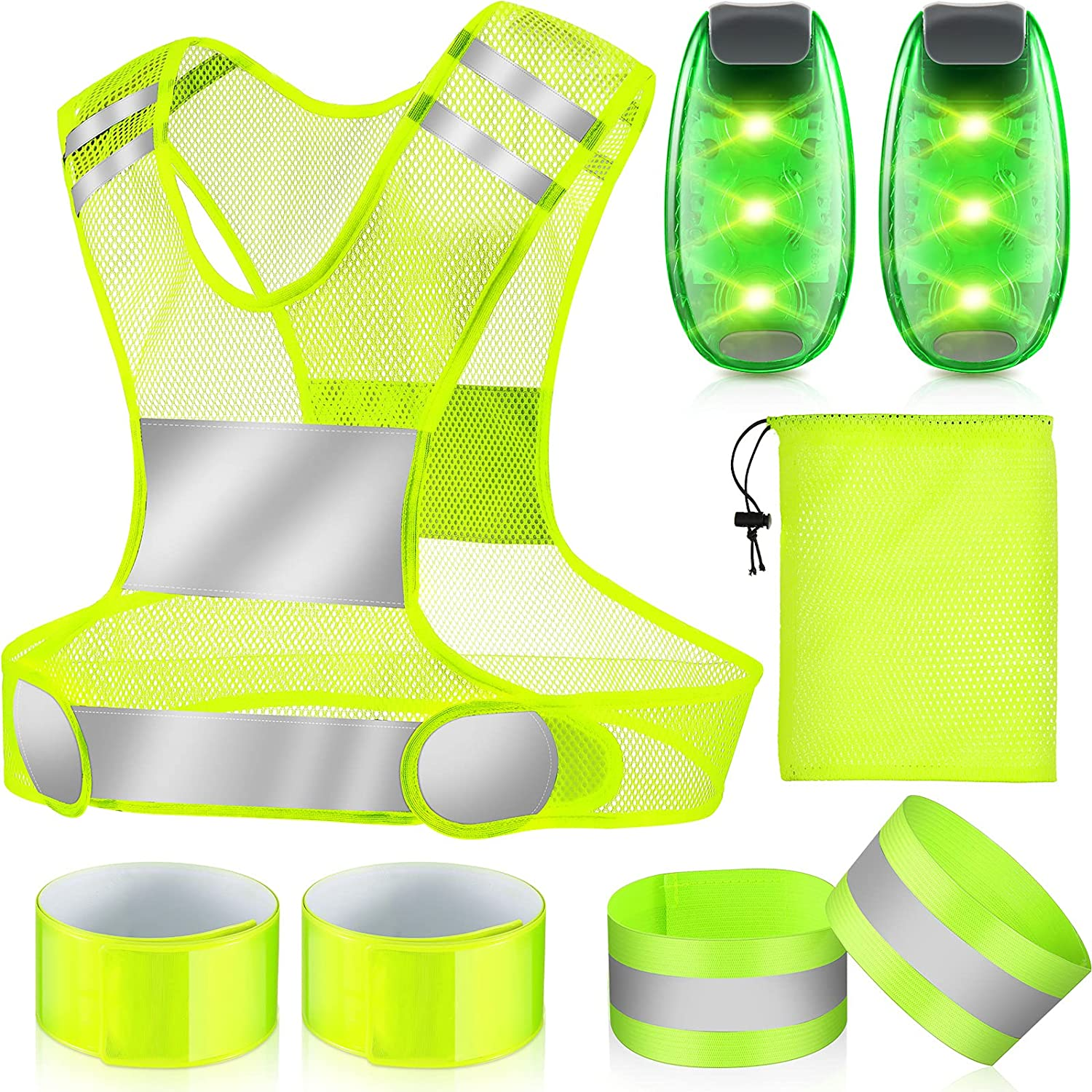 8 Max 73% OFF Pieces Reflective Running Max 46% OFF Gear LED Safety Lights Set 2