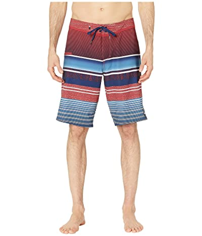 Quiksilver 21 Everyday Stripe Vee 2.0 Boardshorts Swim Trunks (Brick Red) Men
