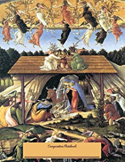 Composition Notebook: Wide Ruled Lined Paper Botticelli The Mystical Nativity