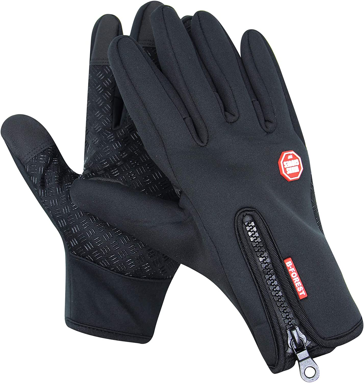Mens Womens Winter Waterproof Gloves Non-Slip Touch Screen Gloves for Skiing Cycling Running Driving