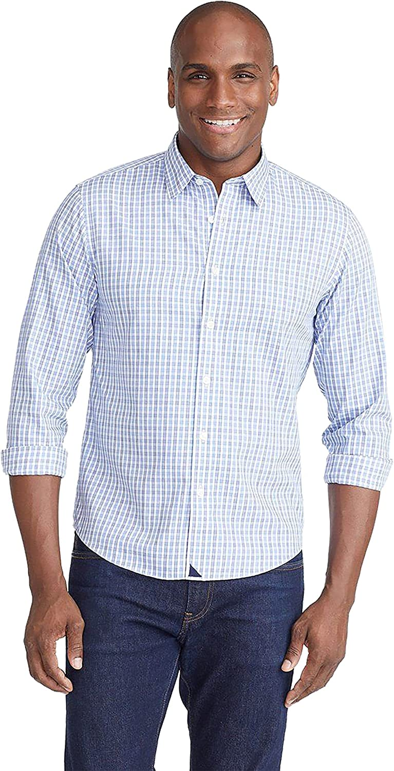 UNTUCKit Durif Men's Button 2021 autumn and winter new Down Max 85% OFF Shirt Whit Navy Light Blue