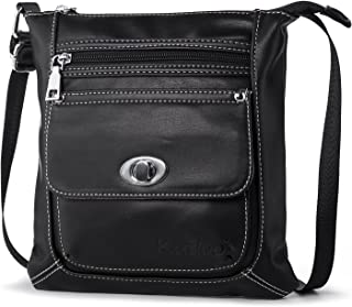 katloo Women Crossbody Purse Small Vegan Leather Shoulder Bag Cross Body Bags Soft Casual Travel Purses (Black)
